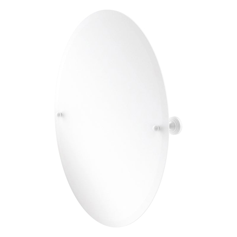 Sag Harbor Collection Frameless Oval Tilt Mirror with Beveled Edge