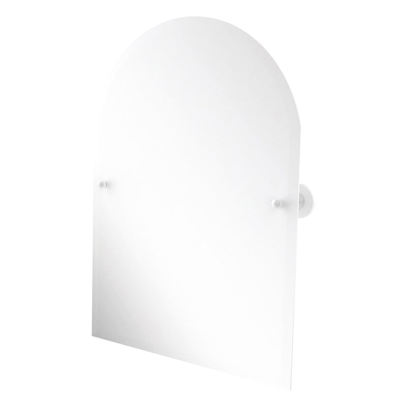 Sag Harbor Collection Frameless Arched Top Tilt Mirror with Beveled Edge