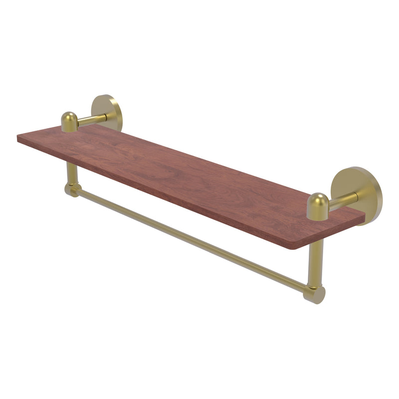 Tango Collection Solid IPE Ironwood Shelf with Integrated Towel Bar