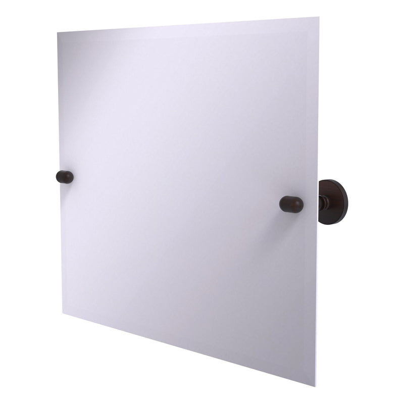 Frameless Landscape Rectangular Tilt Mirror with Beveled Edge