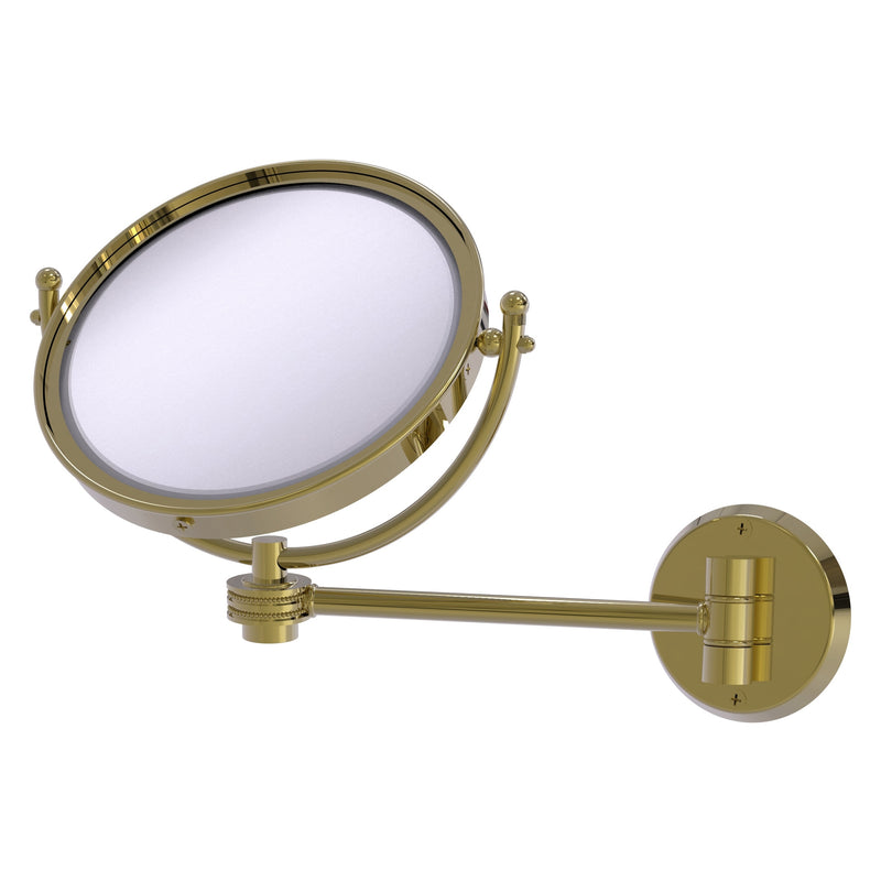 8 Inch Wall Mounted Make-Up Mirror with Dotted Accents