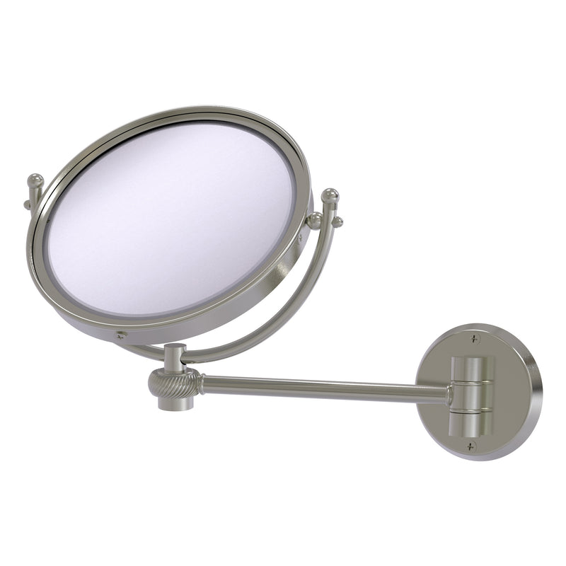 8 Inch Wall Mounted Make-Up Mirror with Twisted Accents