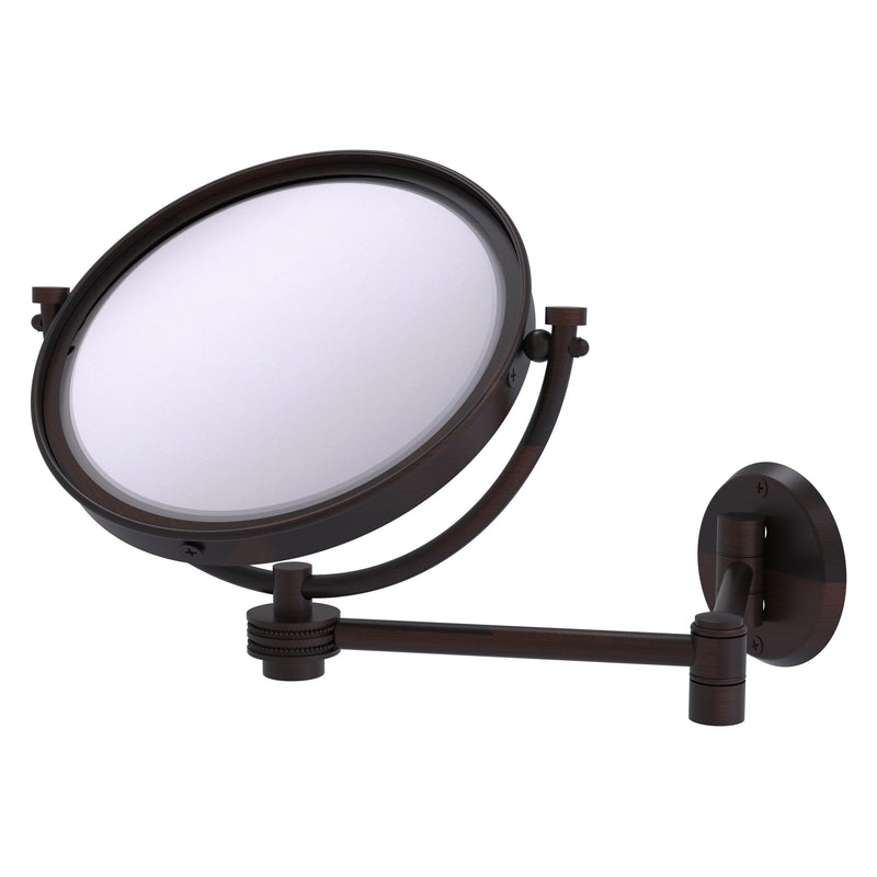 8 Inch Wall Mounted Extending Make-Up Mirror with Dotted Accents