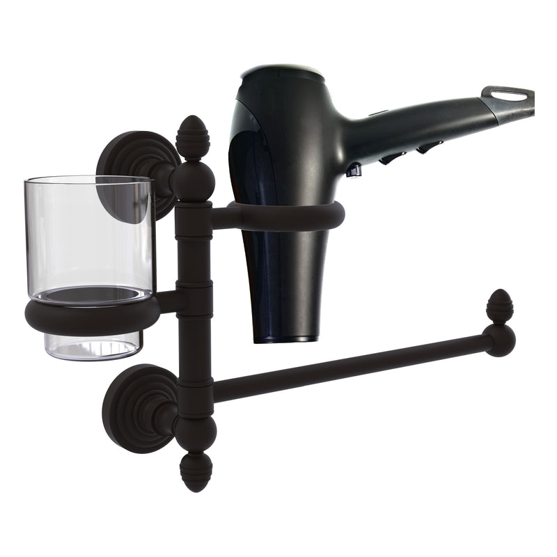 Waverly Place Collection Hair Dryer Holder and Organizer