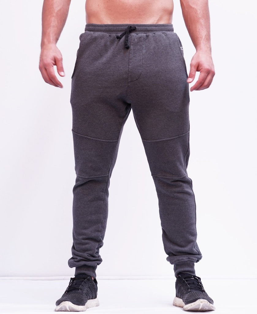BASIC TRACKPANTS - CHARCOAL MARLE