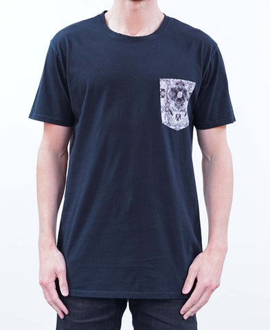 Blue Diamond Tee - Black/White