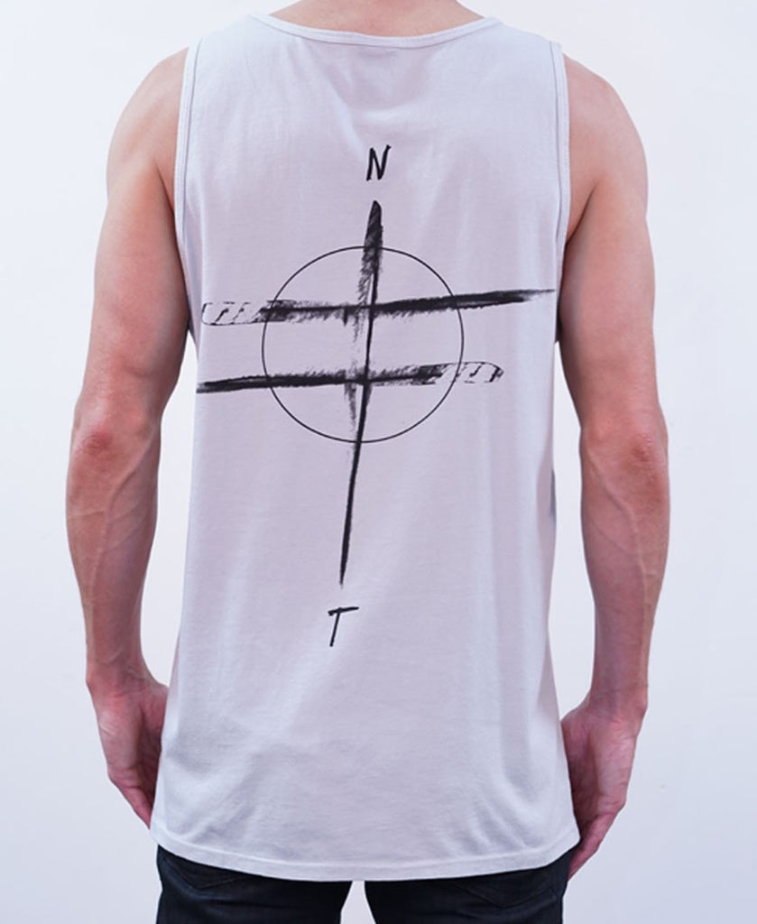 Compass Singlet - Silver