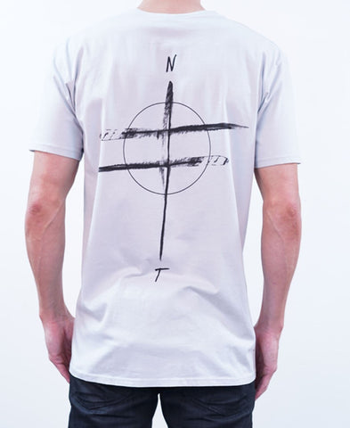 Compass Tee - Silver