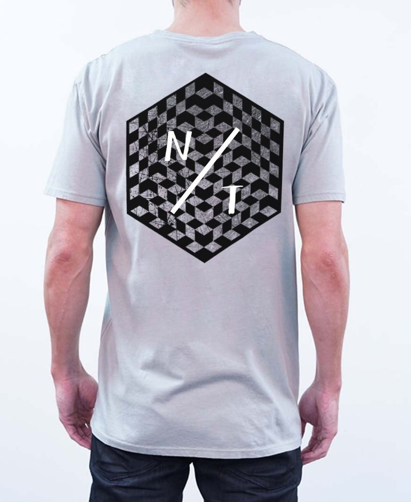 Checks Tee - Gray - NEW