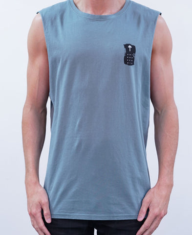 Initiation Muscle Tee - Sage