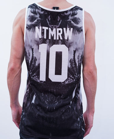 Out There Singlet - Black/White
