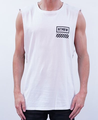 Out There Muscle - White/Black