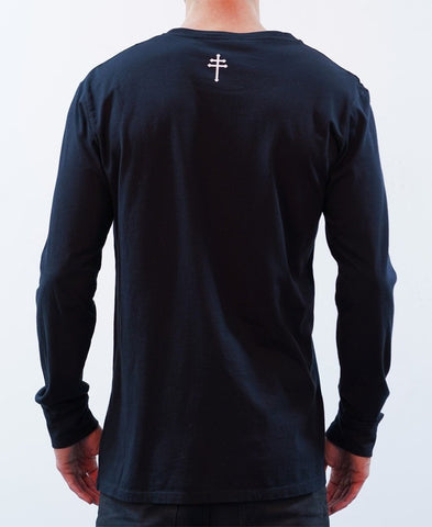 BASIC LONG SLEEVE TEE - BLACK