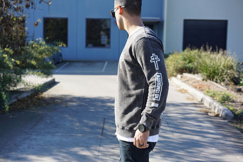 Blessed Crew Jumper - Black Acid