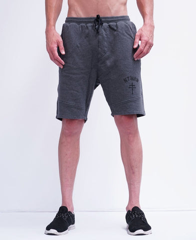 BASIC TRACK SHORTS - CHARCOAL MARLE