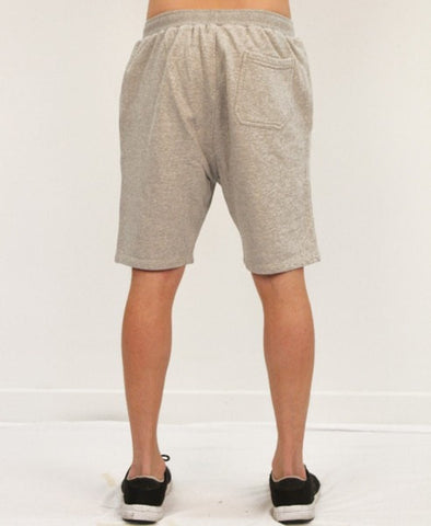 BASIC TRACK SHORTS - GREY MARLE