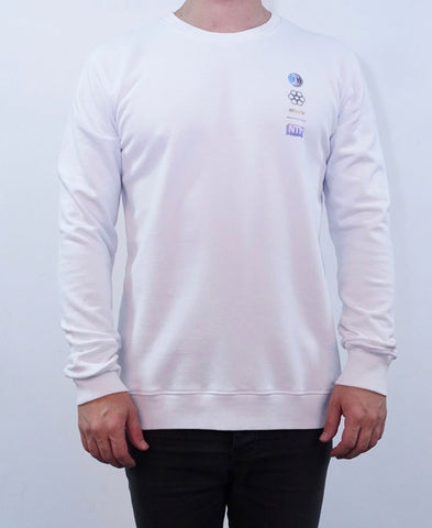 Spaceman Crew Jumper - White