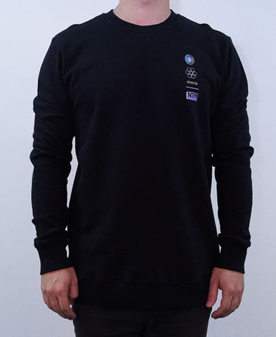 Spaceman Crew Jumper - Black