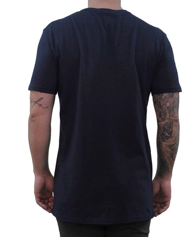 Signature Embroidered Tee - Navy