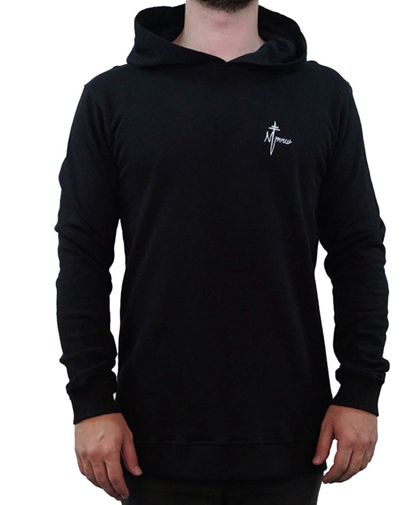 Signature Embroidered Hoodie - Black