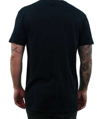 Signature Embroidered Tee - Black
