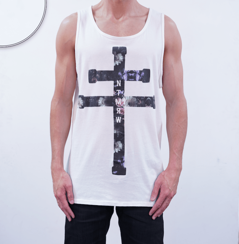 Purple Rain Singlet - Milk