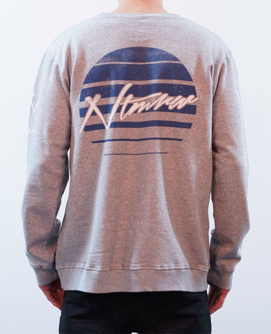 Dissolved Crew Jumper - White