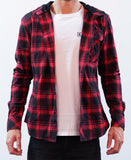 Weekender Hooded Shirt - Black/Red