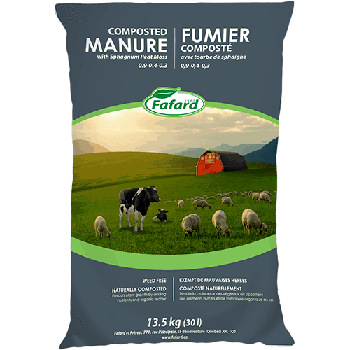 Manure with Sphagnum Peat Moss