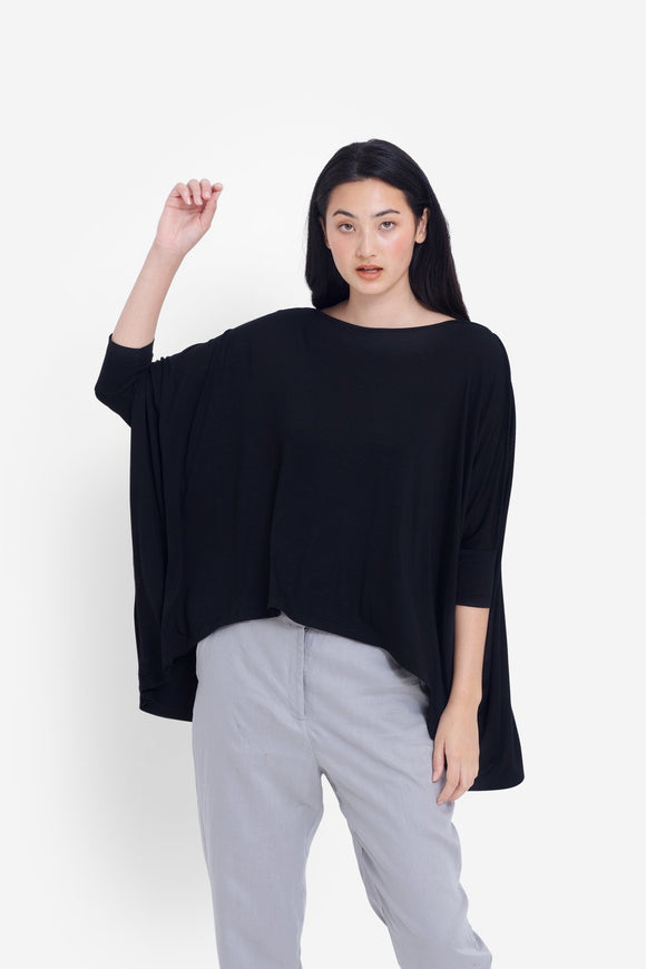 Wide stretch top BLACK