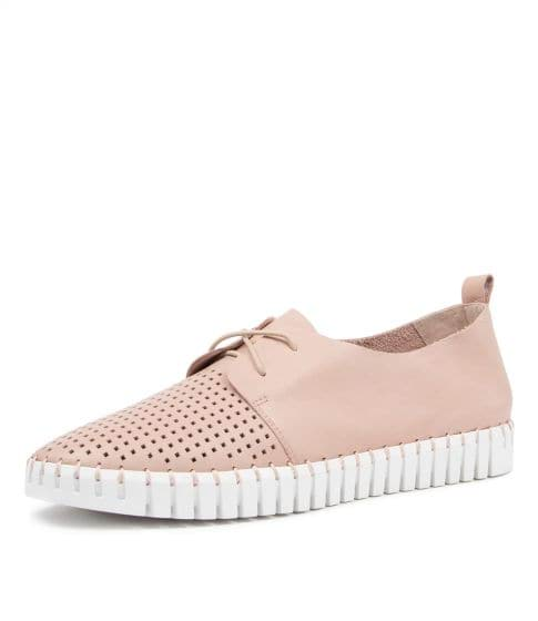 Huston lace up leather sneakers ROSE