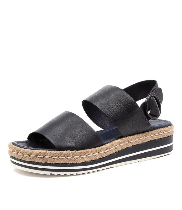 Atha leather sandals NAVY were $159.95