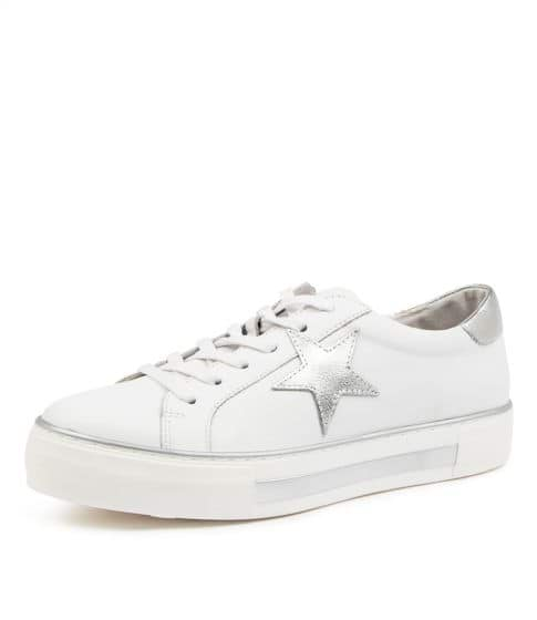 FONNO star leather sneakers WHITE