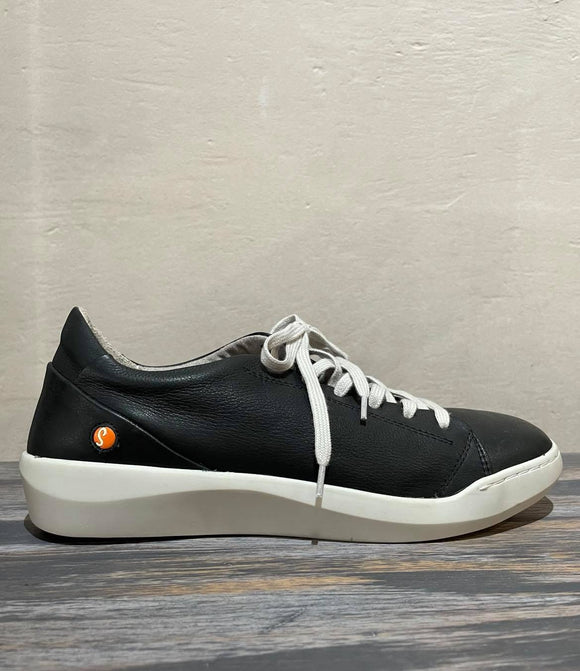 BAUK lace up leather sneaker BLACK