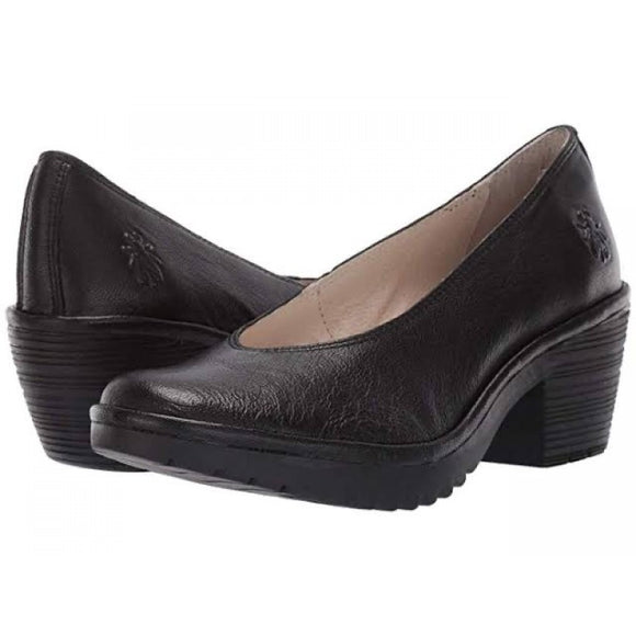 WALO leather pumps BLACK