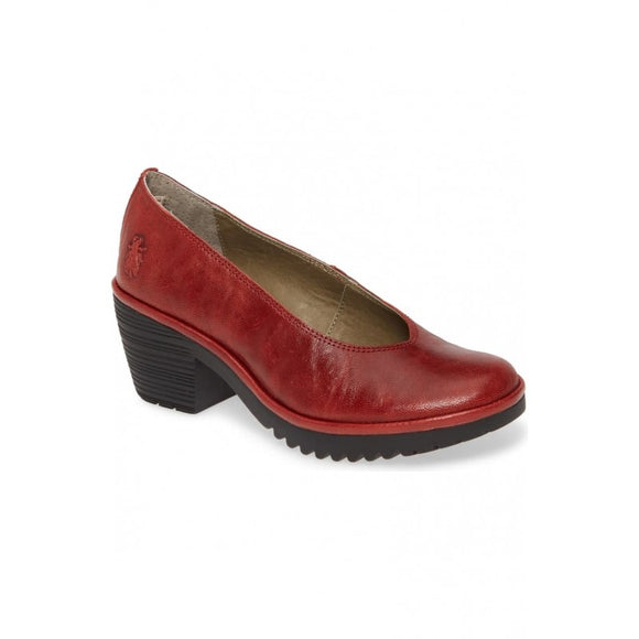 WALO leather pumps RED