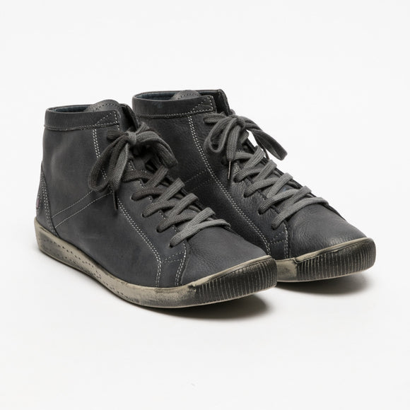 Softinos ISLEEN lace up leather ankle boots ANTHRACITE