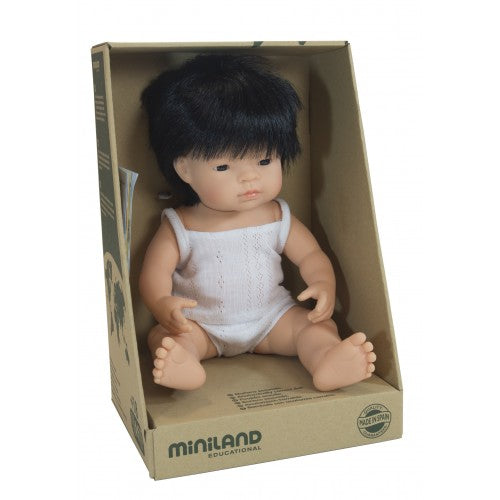 Miniland | Anatomically Correct Doll | Asian Boy | 38 cm