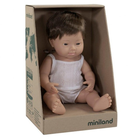 Caucasian Down Syndrome 38 cm Boy by Miniland