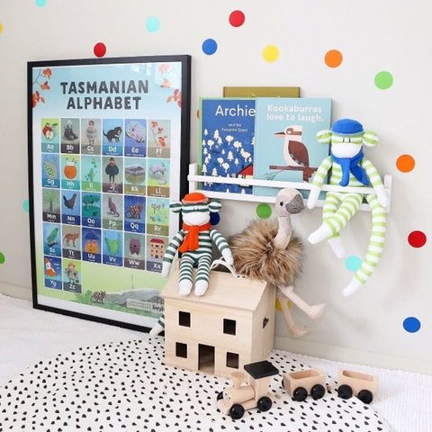 Tasmanian Alphabet  Poster by Tiny Taz Kids