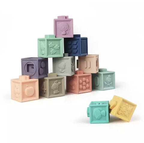 Silicone Building Blocks by Arabella & Autumn