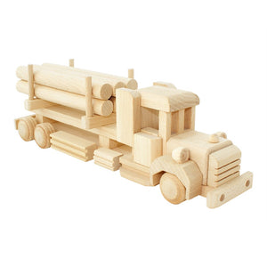 Wooden Truck with Logs Dallas by Bartu