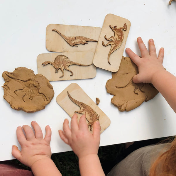 Dinosaur Fossil Stamps by 5 Little Bears