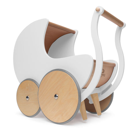 Walker Pram - White by Kinderfeets
