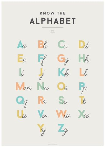 Alphabet Chart by Squared Charts