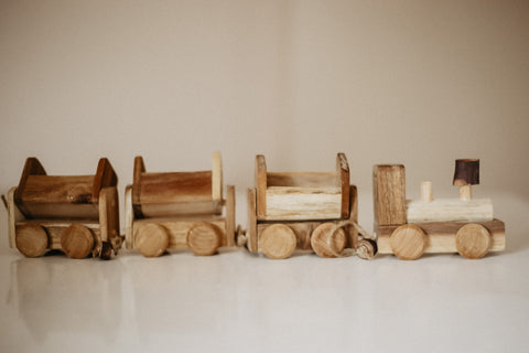 Wooden Train by Qtoys
