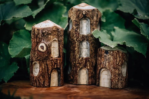 Tree Houses Set of 3 by Qtoys
