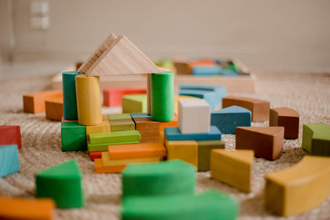 Jumbo Natural Rainbow Blocks by Q Toys