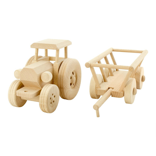 Large Wooden Tractor Miles by Jasio