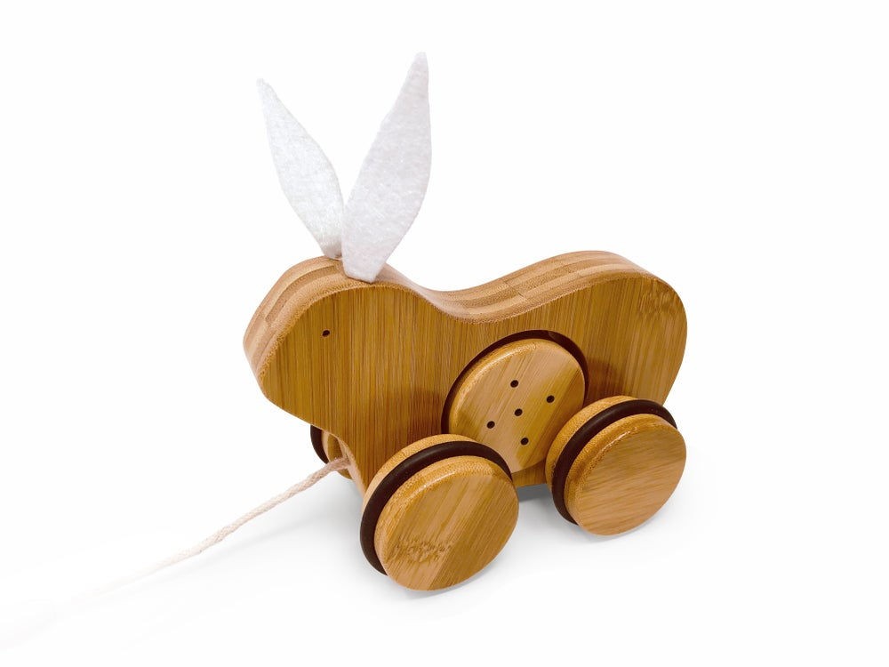 Kinderfeets | Bamboo Pull Toy Rabbit